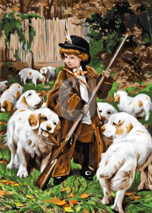 Картина по номерам Картина по номерам «Чарльз Барбер. Юный охотник» фото